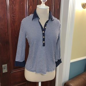 Lauren Ralph Lauren half button stripe shirt 💋